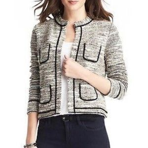 LOFT Sweater Jacket Chanel Gold Black NWT